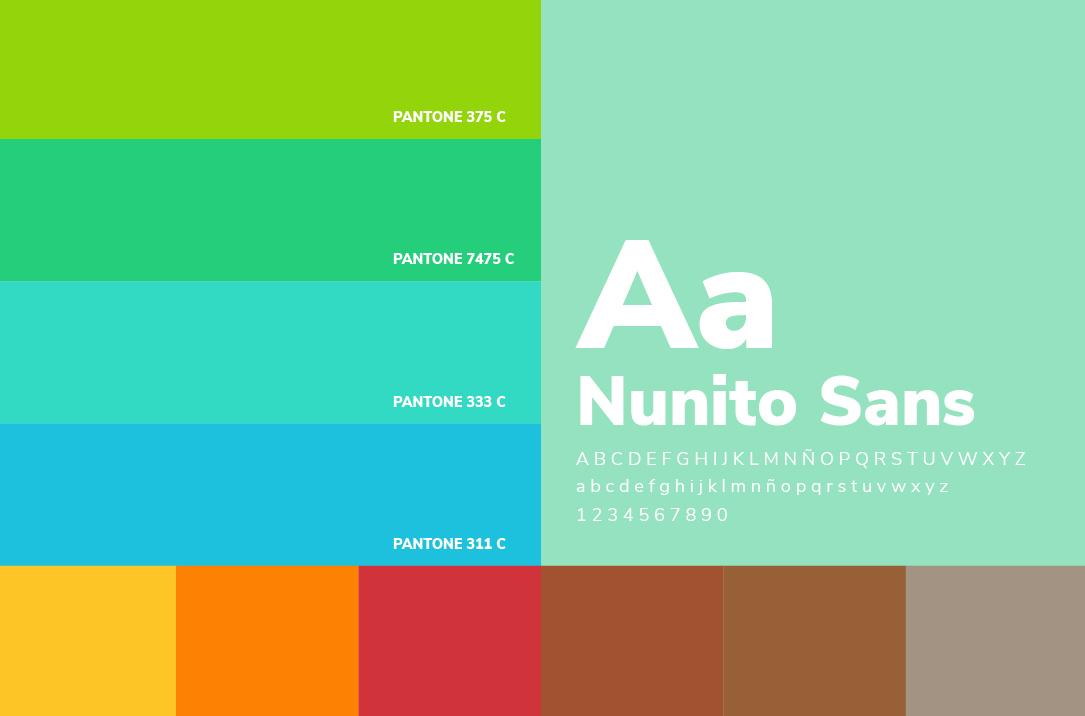 Colores y tipografia